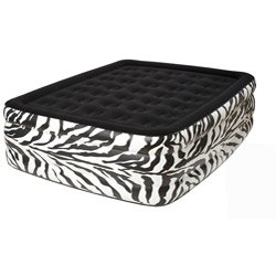 best cheap twin blow up mattress pure comfort waterproof flock top zebra bed