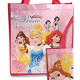 "8-pack Disney Princess Tote Bags Ethernal Beauty (15""x14""x6"" Woven Reusable) AND 8 Disney Princess S"