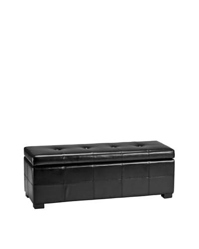 Safavieh Large Maiden Tufted Storage Bench, Black