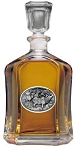 Tennessee Volunteers Glass Capitol Decanter (Spirit Holder) 24 oz - NCAA College... by Heritage Metalworks