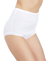 2 Pack Pure Cotton Traditional Full Briefs