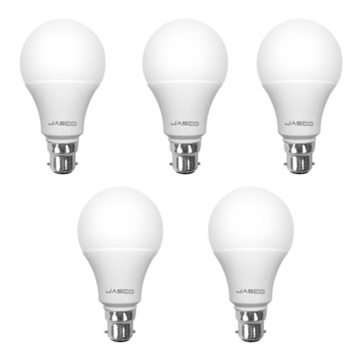 7W B22 LED Bulb (White, Pack of 5)