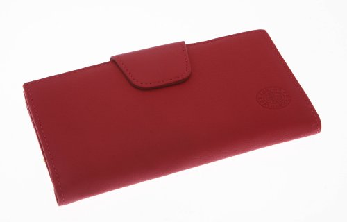 LADIES LEATHER FRAME PURSE (1390) (FUCHSIA)