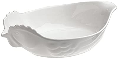 Revol Happy Cuisine White Porcelain 2 Quart Poultry Roasting Dish