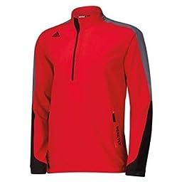 adidas Golf Men\'s Gore - Tex 2-Layer 1/2 Zip Jacket, Bold Red/Black/Onyx, X-Large