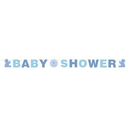 Amazon.com : Tickled Blue Baby Shower Banner - Boy Baby Shower