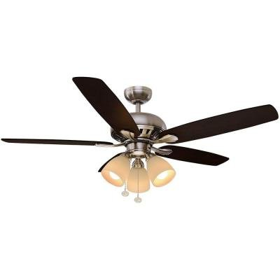 Rockport 52 in. LED Brushed Nickel Ceiling Fan (52 Inch Ceiling Fans compare prices)