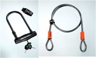 Bike Lock Kryptonite Kryptolok-STD with Bracket and Cable