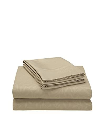 Palace Linens Signature Embossed Leaves Collection Sheet Set