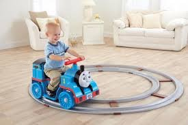 Fisher-Price Power Wheels Thomas The Train On Track 6-Volt Battery-Powered Ride-On Comes With Track!!! front-614043