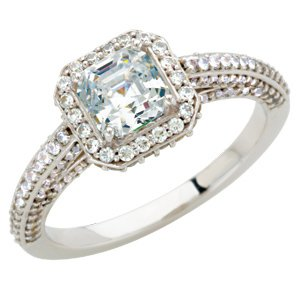 Platinum Semi-mount Engagement Band Size: 10