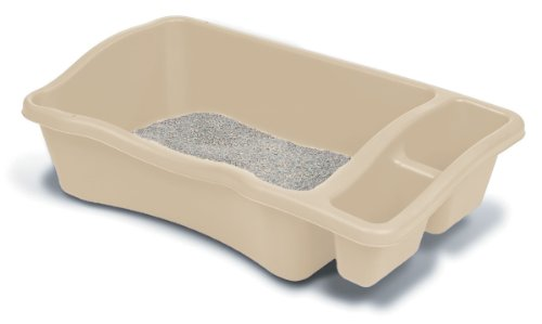 Petmate 22040 Giant Litter Pan, Bleached Linen (Litter Pan Jumbo compare prices)