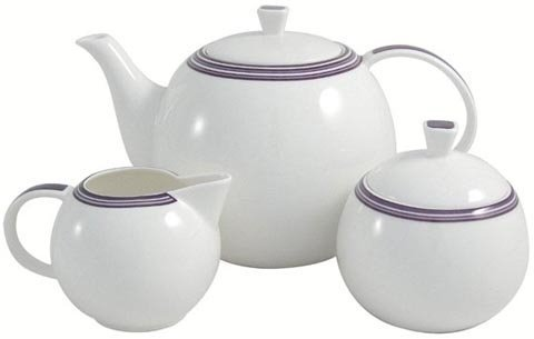 Aynsley China Department Sorrento Teapot, Cream & Sugar Set (Aynsley Teapot compare prices)