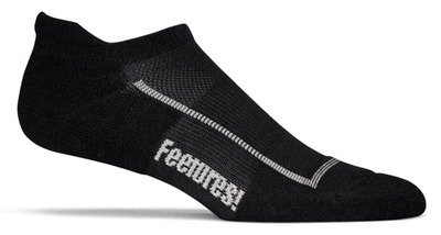 Feetures Socks Feetures Men's Light Cushion No Show Socks with Tab, Large (Men's 9-12 / Women's 10-13), Black