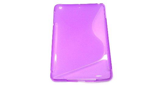 iPad mini ケース カバー S柄 TPU素材 パープル