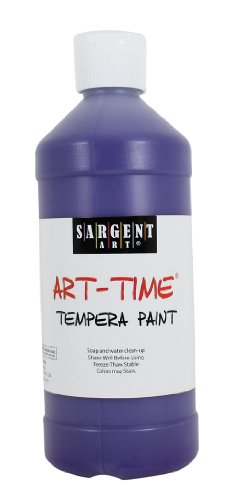 Sargent Art 22-6442 16-Ounce Art Time Tempera, Violet
