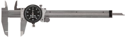 Starrett B120A-6 W/SLC Dial Caliper, Stainless Steel, Black Face, 0-6