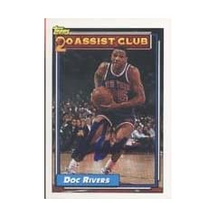 Doc Rivers New York Knicks 1993 Topps 20 Assist Club Autographed Hand Signed Trading... by Hall of Fame Memorabilia