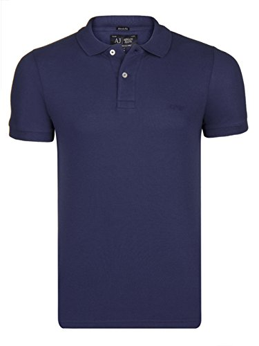 GIORGIO ARMANI JEANS POLO UOMO MUSCLE FIT NAVY BLUE