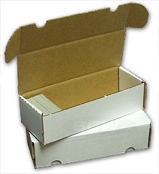 BCW 550 Count (Bundle of 50) Corrugated Cardboard Storage Box - Baseball, Football, Basketball, Hockey, Nascar, Sportscards, Gaming & Trading Cards Collecting Supplies