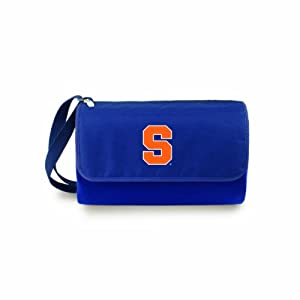NCAA Syracuse Orange Outdoor Picnic Blanket Tote, Navy by Picnic Time