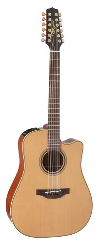 Takamine Pro Series 3 P3Dc-12 Dreadnought Body 12-String Acoustic Electric Guitar With Case, Natural
