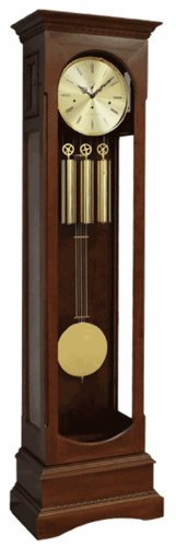 English Channel Grandfather Clock, Pewter Weights and Pendulum