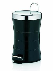 Kela 21561 Kosmetikeimer Imara 3 L Edelstahl, schwarz