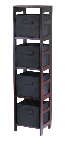 winsome-wood-capri-wood-4-section-storage-shelf-with-4-black-fabric-foldable-baskets