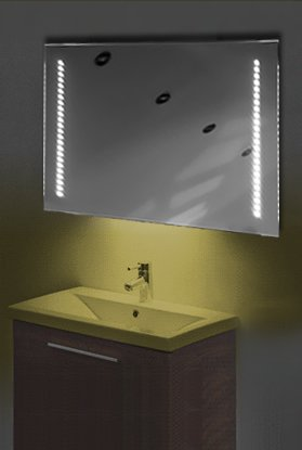 Ambient Ultra-Slim Led Bathroom Mirror With Demister Pad & Sensor K60Y
