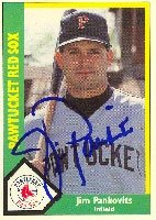Jim Pankovits Pawtucket Red Sox - Red Sox Affiliate 1990 CMC Autographed Hand Signed... by Hall of Fame Memorabilia