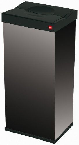Garbage bin 60 l hailo big-box swing 60 (w x h x d) 340 x 720 x 260 mm black swing lid 1 pc(s), $6199 from conrad