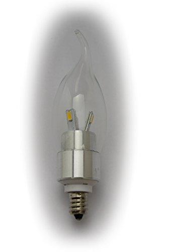 Luzto (Tm) Led Chandelier Candelabra Flame Shape Light Bulb