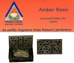 Herbal Vedic - Ayurvedic Incense - Amber Resin 3 gm Medium Rosewood - Amber Resin Products
