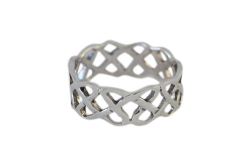 Sterling Silver Open Knot Celtic Band Size 7