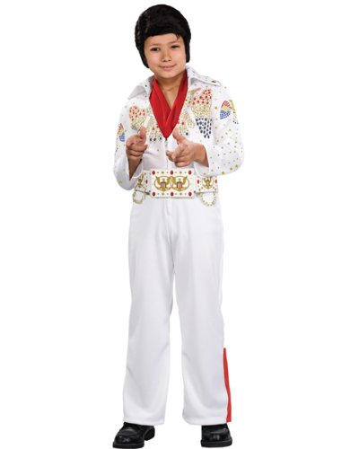 Deluxe Elvis Child Costume AND Accessories ( TODD )