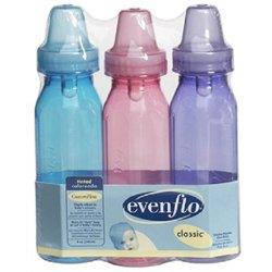 Evenflo 3 Pk BPA Free Tinted Bottles 8 oz. - Boys - 1