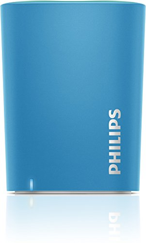 Philips BT100A/00 Altoparlante Wireless Portatile, Azzurro