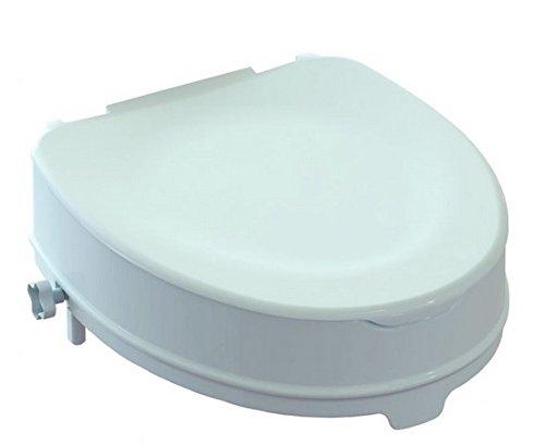Rialza WC ARES 10 cm con fermi e coperchio rimovibile
