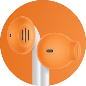Earskinz Earpod Covers (Es2) - Orange - For Apple Iphone 5S / 5C / 5 , Ipod Nano 7G, Ipod Touch 5G