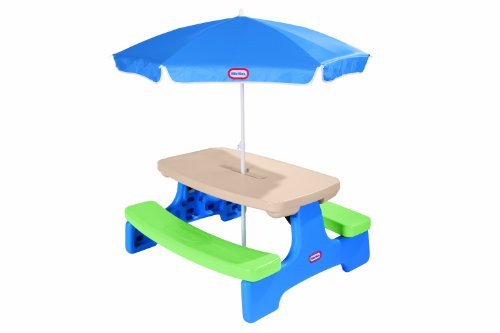 Little Tikes Easy Store Picnic Table with Umbrella (Outdoor Kid Furniture compare prices)