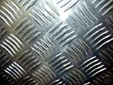 Metal Off Cuts Prime 3.0mm Aluminium Chequer Plate 500mm x 250mm