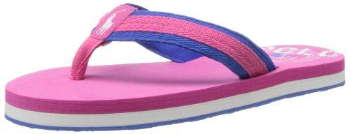 Polo Ralph Lauren Kids Ferry Thong Sport Sandal (Toddler/Little Kid/Big Kid),Pink/Blue,13 M Us Little Kid