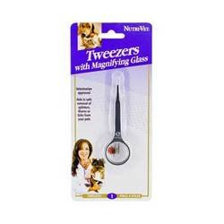 Nutri-Vet DNU50663 Dog Tweezers with Magnifying Glass
