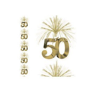 50th anniversary cascade column decoration
