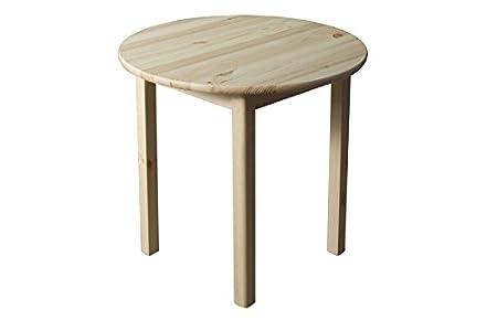 Tisch Kiefer massiv Vollholz natur 003 (rund) - Höhe 75 cm Durchmesser 100 cm (H x Ø)