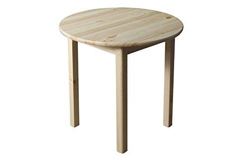 tisch kiefer massiv vollholz natur 003 rund h he 75 cm durchmesser 120 cm h x. Black Bedroom Furniture Sets. Home Design Ideas