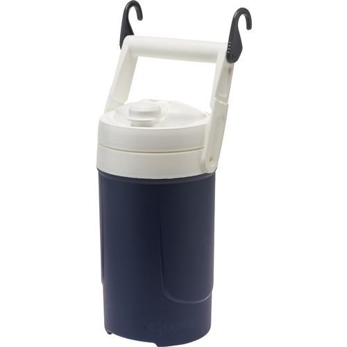 Igloo 1/2 Gallon Sport Navy Blue Plastic Thermos Water Ice Cooler Jug
