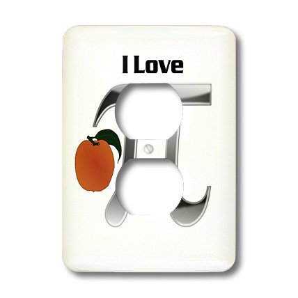 Lsp_174297_6 Florene - Humor - Image Of Love Peach Pi Symbol - Light Switch Covers - 2 Plug Outlet Cover