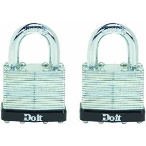 Do it 2 Pack Laminated Steel Padlocks, 2PK 1-1/2 LAMNT PADLOCK 2pk 36xl 37xl black